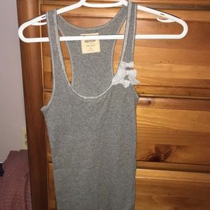 Gray tank top, size small with 3 bows on the side